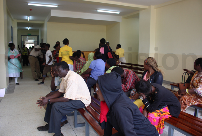 atients queue up for medical attention at the hospital hoto by acheal assuuna