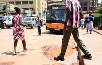 Potholes eat up Kampala streets