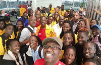 Team Uganda arrives in Taipei