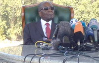 Zimbabwe's Mugabe hopes his former party will lose election