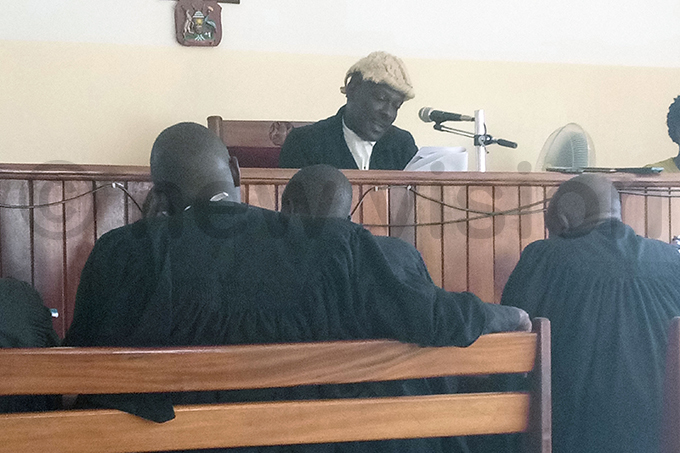 udge nthony yuko jok delivers his ruling at rua igh ourt hoto by dna iyic