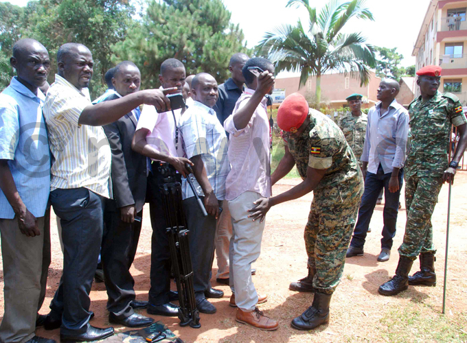 embers of the public and media were subjected to a body search before entering court hoto by ennis ibele