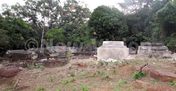he burial ground at the serulanda piritual oundation centre in achanga village