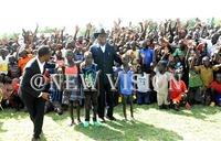 Guinea's Nguema visits Kiryandongo refugees