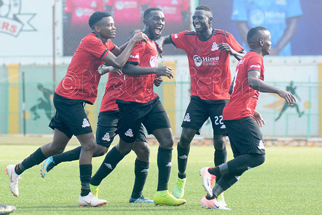 he enoms celebrate asswas center goal against nduparaka on unday