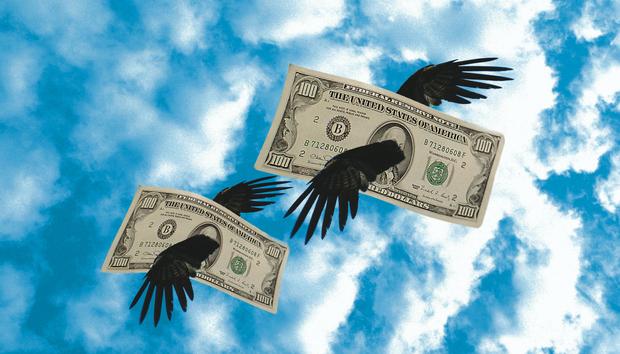 moneyflyingawayloosingbrokebankrupt100613674orig