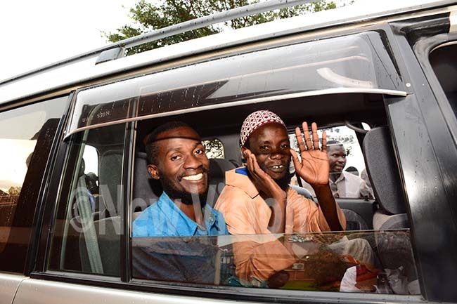 aweesi murder suspects being driven off from court premises after a orgery case against them was dismissed hoto by imothy urungi