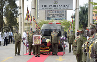 Maj Gen Oketta's body lying in state