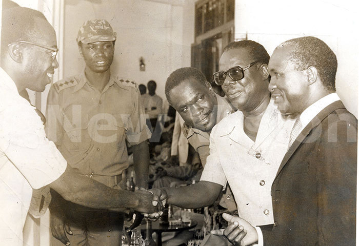 he ice resident aulo uwanga receiving representatives of various organisations