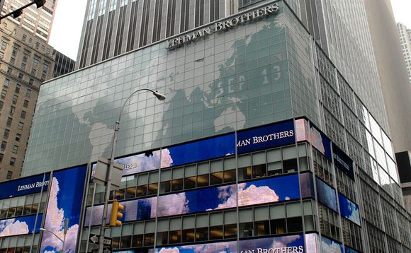 Lehman Brothers collapsed on 15 September 2008. Photo: Antoine Cau/ABACA/Press Association Images