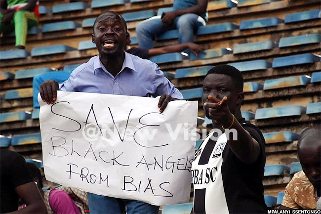 aidha fans had their own messages to put across as their side trailed
