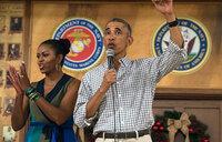 Obama pays last presidential holiday visit to Hawaii marine base