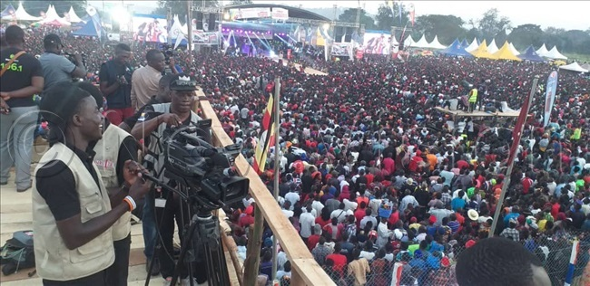 he media is on ground covering the event where thousands are gathered