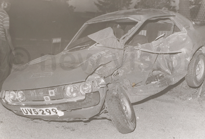 he car in which rchbishop uwum was killed with two others in 1977