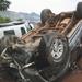 Prado overturns, driver flees the scene