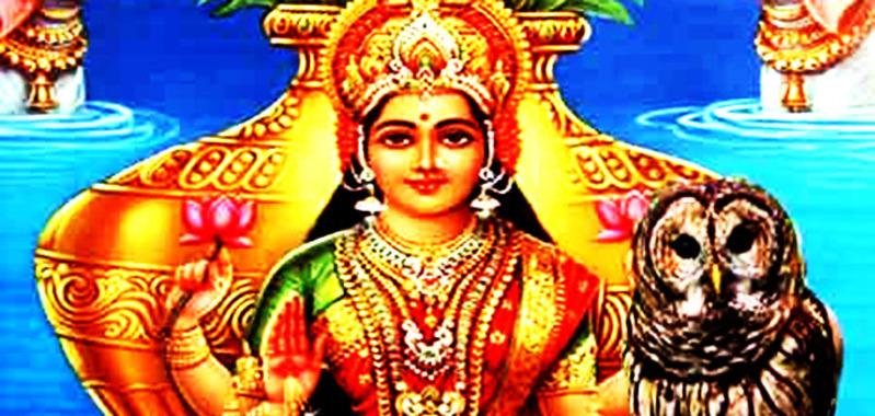 देवी लक्ष्मी और उल्लू