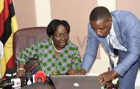 Speaker Kadaga returns to Parliament