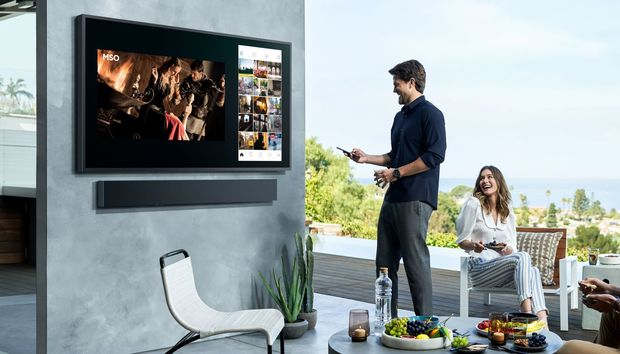 Samsung's new Terrace 4K QLED TV is designed for the great outdoors