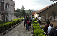 Delayed start at Paul Mukasa SSS Kigunga polling station