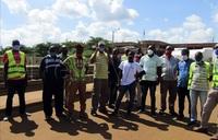 Kenyan truck drivers block border