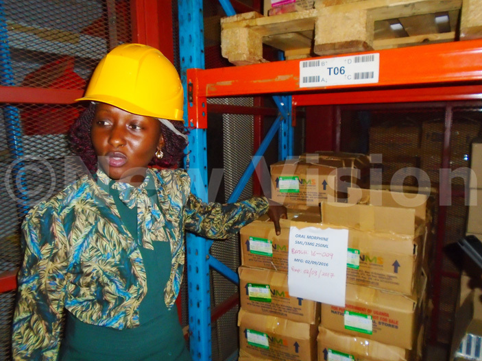 ustomer ervices irector oanita amutebi shows a restricted store where morphine drugs are kept