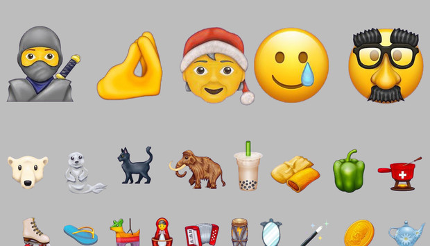 Ninjas! Bubble Tea! Piñatas! These are the 117 new emojis coming in 2020