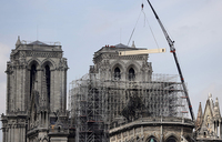 Race on to cover Notre-Dame as rainclouds gather over Paris