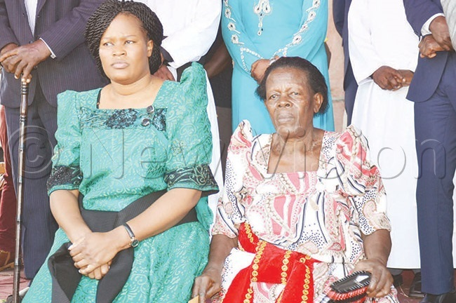 antaba and her mother during prayers she organised in ayunga to thank od for saving her life during the foiled assassination