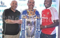 Barclays Premier League trophy back in Uganda