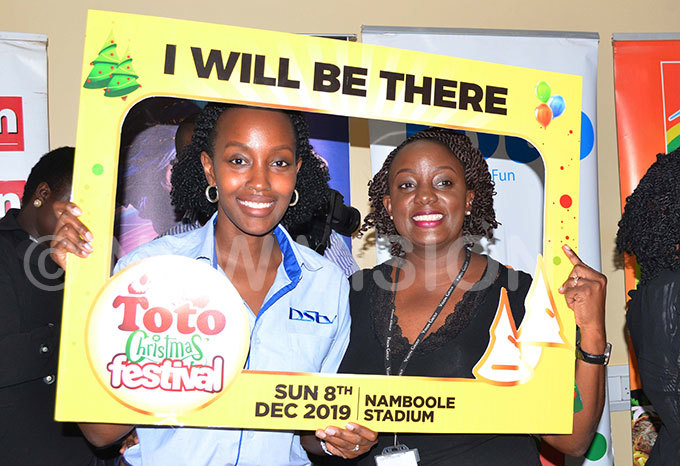 oan emanda izza ublic elations and ommunication anager at ultichoice ganda iona amale vents anager at ision roup  officially launching the oto hristmas estival