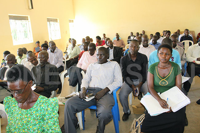 eachers of akasongola district during one of the meetings