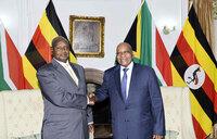 Presidents Museveni, Zuma meet in South Africa