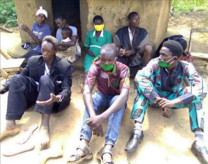 Suspects arrested for gathering to conduct prayers. Photo by Micheal Onyinge