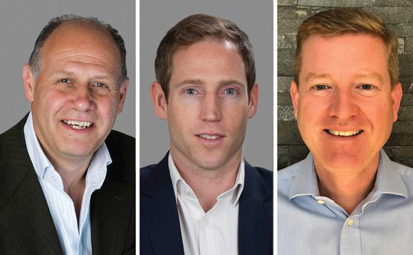 Artemis equity income fund manager Adrian Frost (left), and partners Nick Shenton (middle) and Andy Marsh (right)