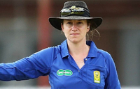 'Special day' for history-making woman umpire