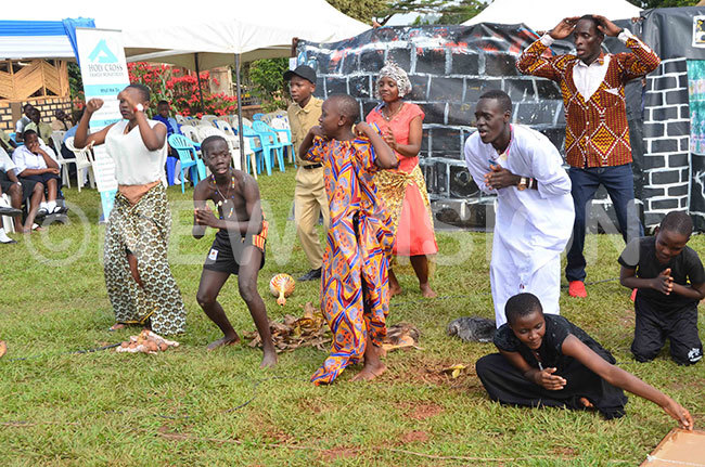 scene from a drama by the students of t ugustines ollege akiso