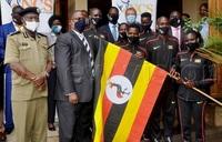 Uganda's World Half Marathon team flagged off