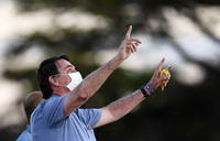 Recovered from virus, Bolsonaro says nothing to fear
