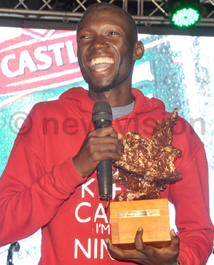 ugumayo smiles as he gives a speech after the tournament at ntebbe lub hoto by ichael subuga