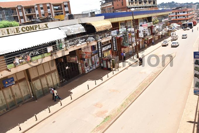 mpty streets in ampala as a result of the lock down