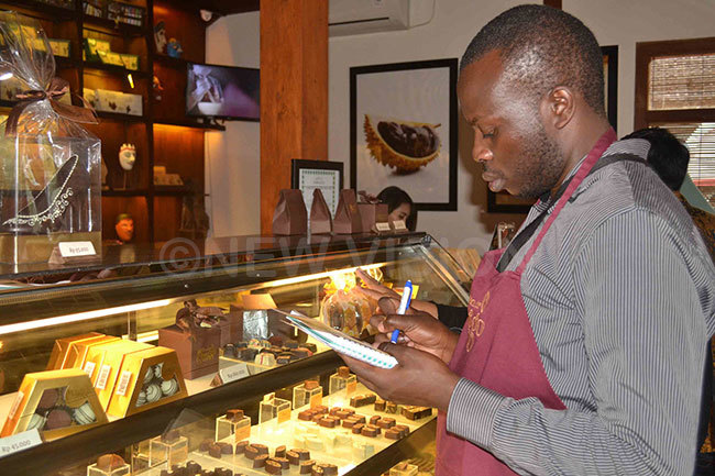 ashaka taking notes at the onggo chocolate factory