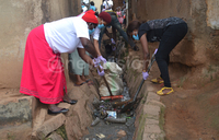 CSOs, residents clean up stinking trenches in Kampala
