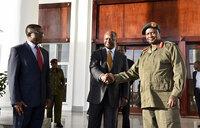 President Museveni, Kabaka Mutebi meet at Entebbe