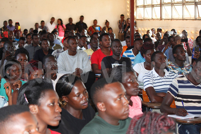 kumba niversity students listening to  ayihura