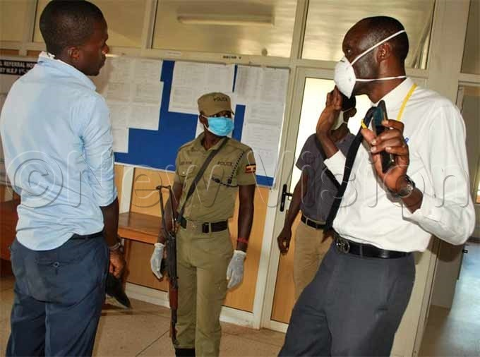 gaba being interrogated by security personel at the hospital hoto by eginah alunga
