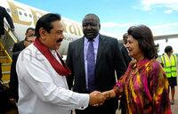 Sri Lanka president arrives for Commonwealth summit