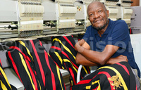 Kasumba, the designer of VP Ssekandi's coat of many colours