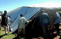 Wild winds rip off school roof in Kapchorwa