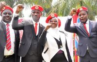 Bobi Wine's 150-member team