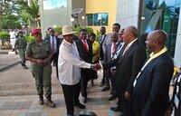 Museveni arrives for IPOD